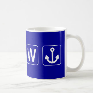W Anchor Wanchor Funny Gift Basic White Mug