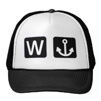 W Anchor Wanchor Funny Gift Cap