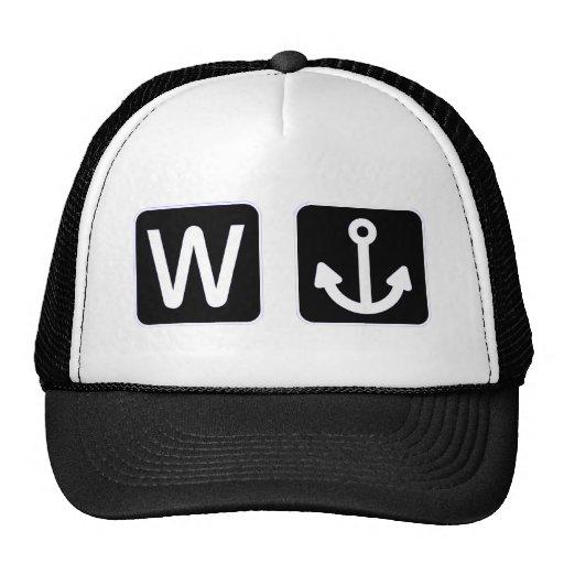 W Anchor Wanchor Funny Gift Trucker Hat