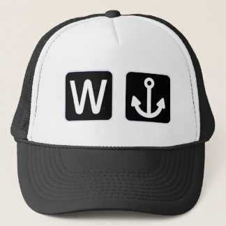 W Anchor Wanchor Funny Gift Trucker Hat
