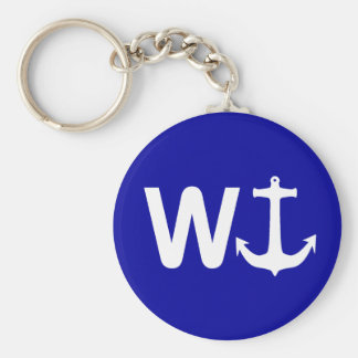 W Anchor Wanchor Funny Joke Gift Key Ring
