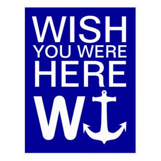 W Anchor Wanchor Funny Joke Gift Postcard