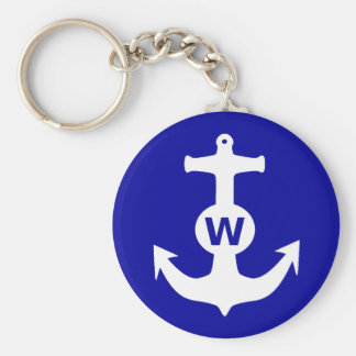 W Anchor Wanchor Insult Funny Gift Basic Round Button Key Ring