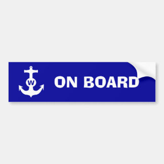 W Anchor Wanchor Insult Funny Gift Bumper Sticker