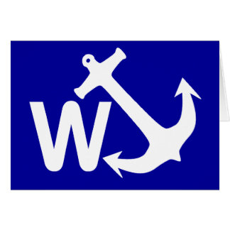 W Anchor Wanchor Joke Funny Gift Card