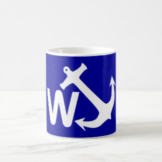 W Anchor Wanchor Joke Funny Gift Coffee Mug