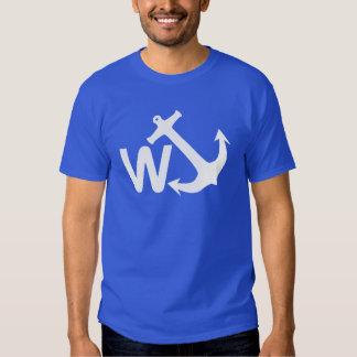 W Anchor Wanchor Joke Funny Gift Tee Shirts