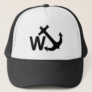 W Anchor Wanchor Joke Funny Gift Trucker Hat
