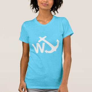 W Anchor Wanchor Joke Funny Gift Tshirt