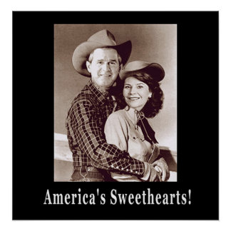 W and Laura Americas Sweethearts Posters