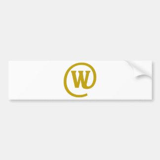 W-at Bumper Sticker