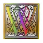 W Celtic Rainbow Custom Monogram Tile