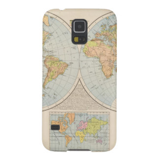 W, E Halbkugel World Map Galaxy S5 Case