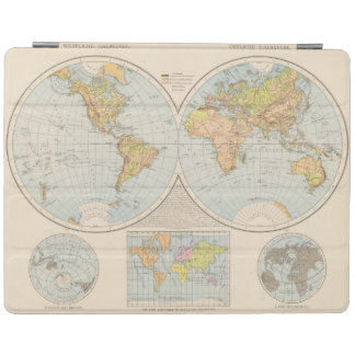 W, E Halbkugel World Map iPad Cover