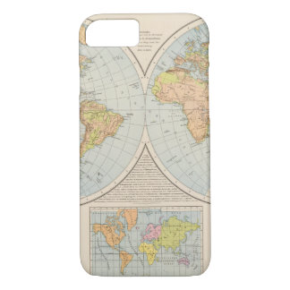 W, E Halbkugel World Map iPhone 8/7 Case