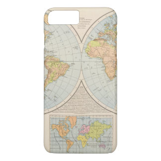 W, E Halbkugel World Map iPhone 8 Plus/7 Plus Case