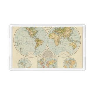 W, E Hemispheres Acrylic Tray