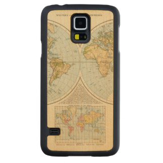 W, E Hemispheres Carved Maple Galaxy S5 Case