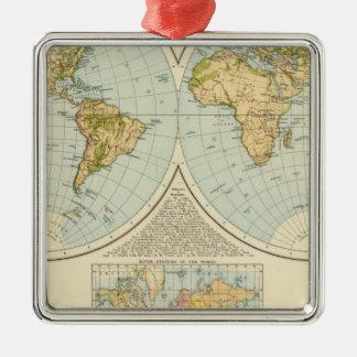 W, E Hemispheres Christmas Ornament
