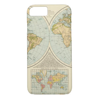 W, E Hemispheres iPhone 8/7 Case