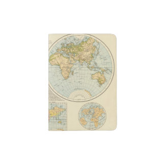 W, E Hemispheres Passport Holder