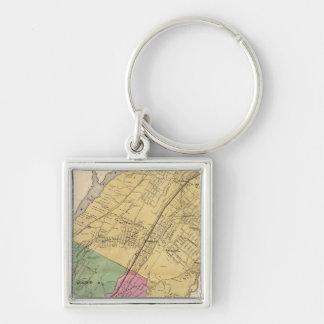 W Farms, Morrisania Silver-Colored Square Key Ring