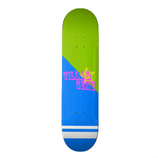 W&G BLUE & GREEN CUSTOM SKATEBOARD