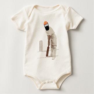 w g grace cricketer vintage baby bodysuit