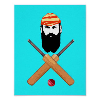 W G Grace Vintage Cricketer Posters