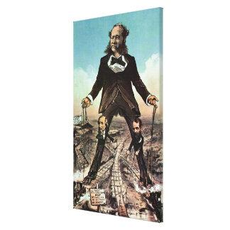 W.H. Vanderbilt as a 'Colossus of Roads' Canvas Print