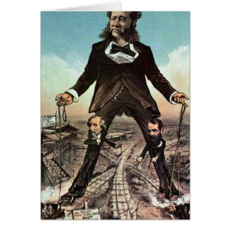 W.H. Vanderbilt as a 'Colossus of Roads' Card