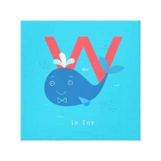 W is for... gallery wrap canvas