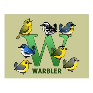 W is for Warbler Postcard