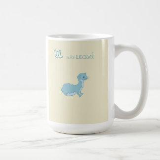 W is for Weasel Coffee Mug