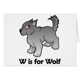 W is for Wolf Greeting Card