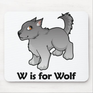 W is for Wolf Mouse Pad