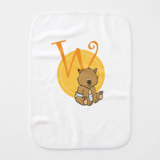 W is for Wombat Burp Cloth