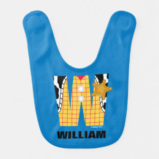 W is for Woody   Add Your Name Bib