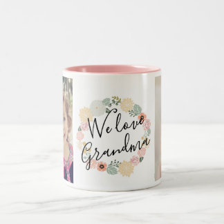 W Love Grandma Custom Photo Mug