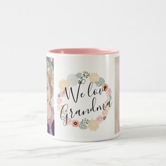 W Love Grandma Custom Photo Mug