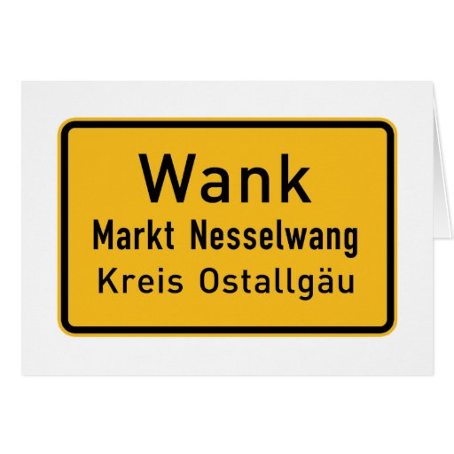 W#nk, Germany Road Sign Card