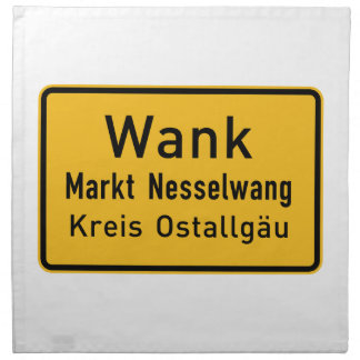 W#nk, Germany Road Sign Cloth Napkins