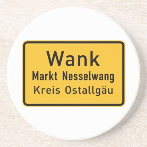 W#nk, Germany Road Sign Drink Coaster