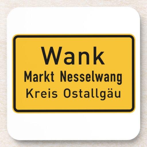 W#nk, Germany Road Sign Beverage Coaster