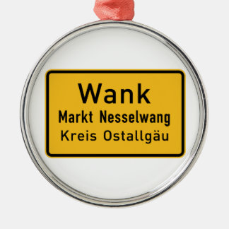 W#nk, Germany Road Sign Ornament