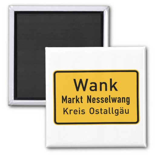 W#nk, Germany Road Sign Magnet