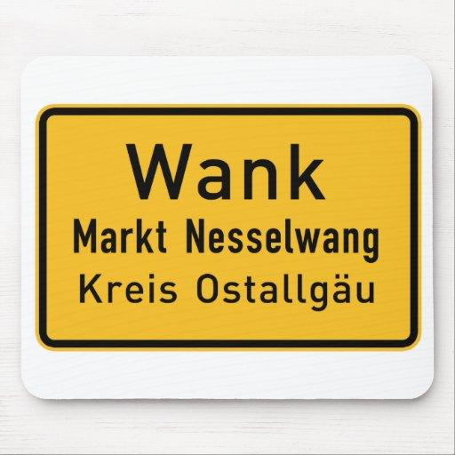 W#nk, Germany Road Sign Mousepad