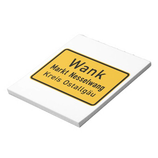 W#nk, Germany Road Sign Memo Notepads
