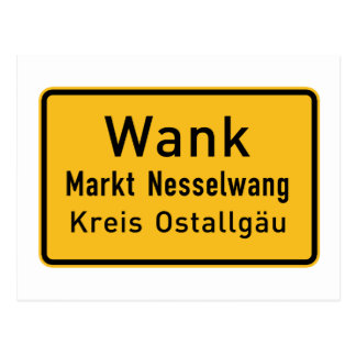 W#nk, Germany Road Sign Postcard