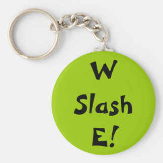 W Slash E! Basic Round Button Key Ring